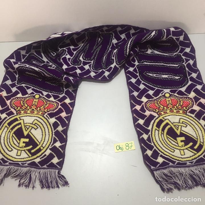 BUFANDA DE REAL MADRID ANTIGUA (Coleccionismo Deportivo - Banderas y Banderines de Fútbol)