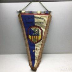 Coleccionismo deportivo: ANTIGUO BANDERIN C.D. LLAVANERES. Lote 217005407