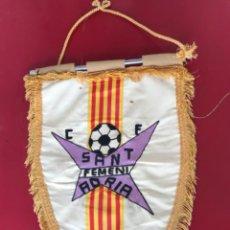 Coleccionismo deportivo: BANDERIN BORDADO DEL CLUB DE FÚTBOL SANT ADRIA FEMENI.. Lote 217197506