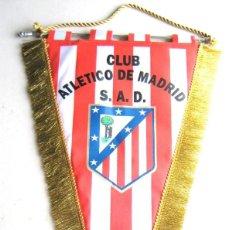 Collezionismo sportivo: BANDERIN ATLETICO MADRID 50 X 30 CM OLD LOGO ANTIGUO PENNANT GALLARDETE FANION WIMPEL. Lote 218026093
