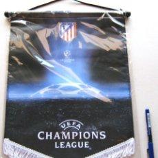 Collezionismo sportivo: BANDERIN ATLETICO MADRID GRANDE UEFA CHAMPIONS LEAGUE OFICIAL 40 X 30 PENNANT WIMPEL. Lote 218026451