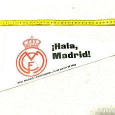 Coleccionismo deportivo: REAL MADRID MANCHESTER COPA EUROPA BANDERIN. Lote 218476645