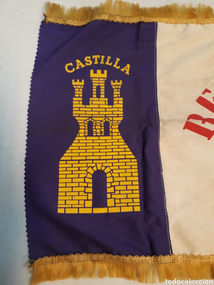 Coleccionismo deportivo: Antigua bandera del real Madrid - Foto 2 - 218667817