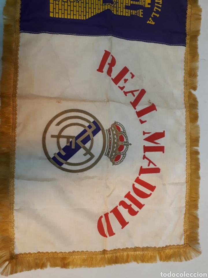 Coleccionismo deportivo: Antigua bandera del real Madrid - Foto 3 - 218667817