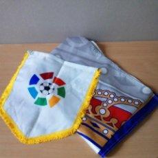 Coleccionismo deportivo: LOTE DE ESTANDARTE Y BANDERA DEL REAL MADRID. Lote 218694757
