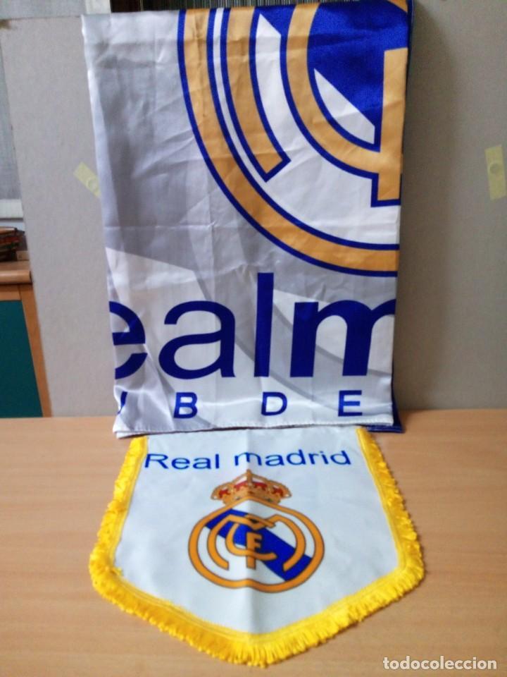 Coleccionismo deportivo: LOTE DE ESTANDARTE Y BANDERA DEL REAL MADRID - Foto 2 - 218694757