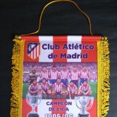 Collectionnisme sportif: BANDERIN ATLETICO DE MADRID - DOBLETE LIGA/COPA 1995/1996. Lote 181899116