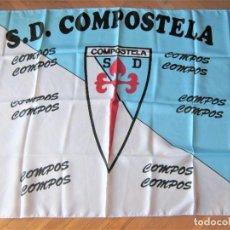 Coleccionismo deportivo: BANDERA FLAG SD COMPOSTELA LA A CORUÑA 132 X 97 SANTIAGO DE GALICIA NUEVA NEW 100 % DRAPEAU R18. Lote 219280308