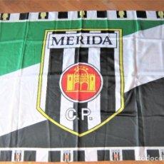 Coleccionismo deportivo: BANDERA FLAG MERIDA CP UD AD BADAJOZ OFICIAL 140 X 98 NUEVA NEW 100 % FLAGGE DRAPEAU R22-R. Lote 219281121