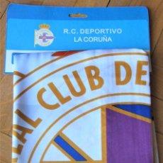Coleccionismo deportivo: BANDERA FLAG DEPORTIVO LA A CORUÑA OFICIAL 147X98 + COLGADOR FLAGGE DRAPEAU R24-R. Lote 219282000