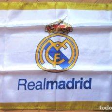 Coleccionismo deportivo: BANDERA FLAG REAL MADRID CF LOGO OFICIAL 71 X 49 NUEVA NEW 100 % FLAGGE DRAPEAU R26. Lote 219282416