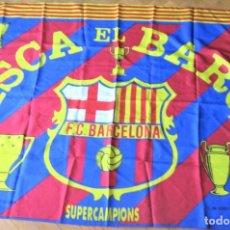 Coleccionismo deportivo: BANDERA FLAG FC BARCELONA VISCA BARÇA + TITULOS 132 X 92 CASI COMO NUEVA FLAGGE DRAPEAU R33. Lote 219283756