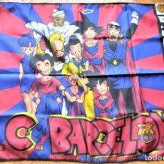 Collezionismo sportivo: BANDERA FLAG FC BARCELONA & DRAGON BALL SON GOKU 98 X 73 NUEVA NEW 100 % FLAGGE DRAPEAU R34-R. Lote 219283858