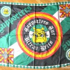 Coleccionismo deportivo: BANDERA FLAG SUPPORTERS GOL SUR ULTRA REAL BETIS DE SEVILLA 142 X 96 NUEVA NEW 100 % R36-R. Lote 219284023
