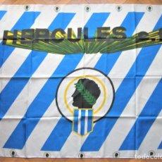 Coleccionismo deportivo: BANDERA FLAG HERCULES CF ALICANTE 127 X 95 NUEVA NEW 100 % FLAGGE DRAPEAU R20. Lote 219284852