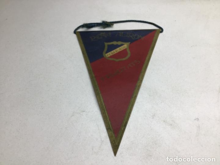BANDERIN PEQUEÑO - PEÑA ALIRON F.C. BARCELONA (Coleccionismo Deportivo - Banderas y Banderines de Fútbol)