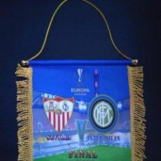 Collezionismo sportivo: BANDERÍN SEVILLA-INTER FINAL EUROPA LEAGUE 2020. Lote 220306178