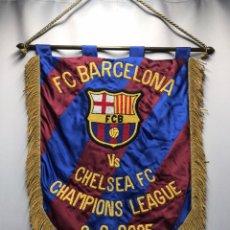 Coleccionismo deportivo: BANDERIN FC BARCELONA MATCH WORN BARÇA CHELSEA. Lote 222125965