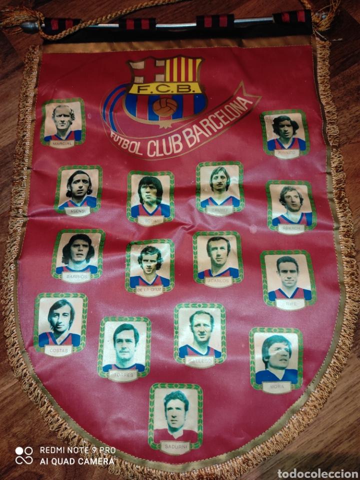 BANDERÍN F.C. BARCELONA .1971 (Coleccionismo Deportivo - Banderas y Banderines de Fútbol)