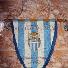 Coleccionismo deportivo: (F-201102)BANDERIN BORDADO C.D.AT.BALEARES A Dª MARIA M.CARBO 20-1-1969. Lote 223235756