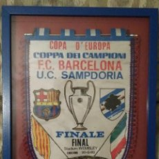 Coleccionismo deportivo: BANDERIN FINAL COPA DE EUROPA 1992. Lote 223657523