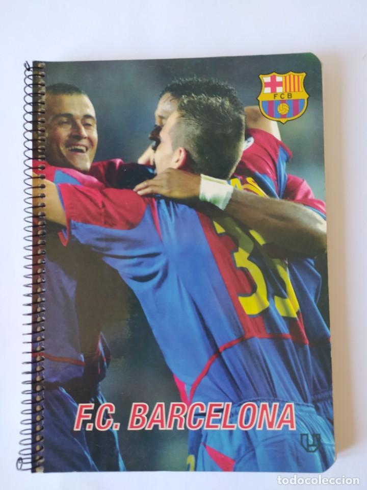 CUADERNO F.C. BARCELONA, LUIS ENRIQUE. (Coleccionismo Deportivo - Banderas y Banderines de Fútbol)