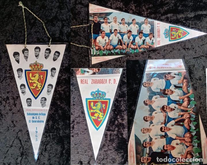 BANDERIN ANTIGUO FUTBOL REAL ZARAGOZA CD SUBCAMPEON COPA GENERALISIMO 1965 - LOS MAGNIFICOS (Coleccionismo Deportivo - Banderas y Banderines de Fútbol)