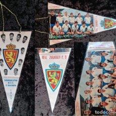 Coleccionismo deportivo: BANDERIN ANTIGUO FUTBOL REAL ZARAGOZA CD SUBCAMPEON COPA GENERALISIMO 1965 - LOS MAGNIFICOS. Lote 224249470