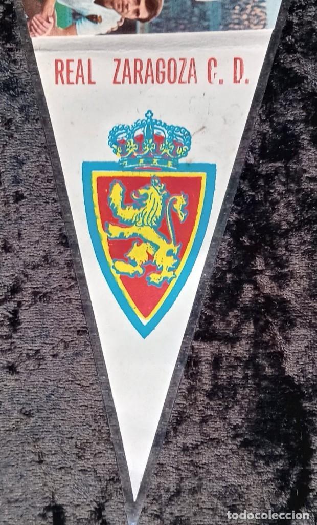 Coleccionismo deportivo: BANDERIN ANTIGUO FUTBOL REAL ZARAGOZA CD SUBCAMPEON COPA GENERALISIMO 1965 - LOS MAGNIFICOS - Foto 3 - 224249470