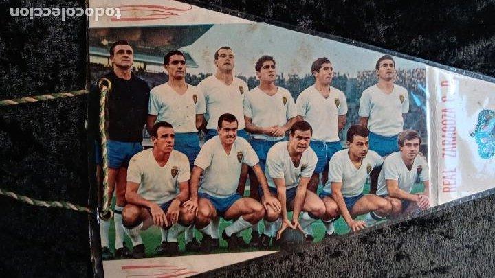 Coleccionismo deportivo: BANDERIN ANTIGUO FUTBOL REAL ZARAGOZA CD SUBCAMPEON COPA GENERALISIMO 1965 - LOS MAGNIFICOS - Foto 5 - 224249470
