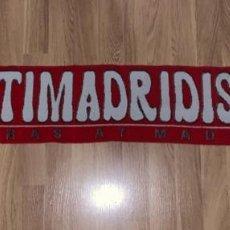 Collezionismo sportivo: BUFANDA ANTIMADRIDISTA (2) - MEDIADOS DE LOS 90 - FUTBOL - ATLETICO DE MADRID ULTRAS. Lote 225708245
