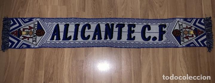 BUFANDA ALICANTE C.F. - MEDIADOS DE LOS 2000 - FUTBOL (Coleccionismo Deportivo - Banderas y Banderines de Fútbol)