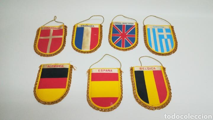 LOTE DE 7 BANDERINES DE EUROPA DE 1984 (Coleccionismo Deportivo - Banderas y Banderines de Fútbol)