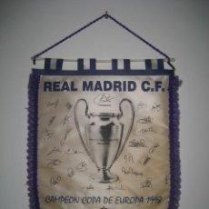 Coleccionismo deportivo: BANDERIN REAL MADRID. CAMPEON COPA DE EUROPA 1998. ARENA STADIUM AMSTERDAM. Lote 227464270