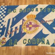 Collezionismo sportivo: BANDERA FUTBOL REAL CLUB DEPORTIVO LA CORUÑA SUPER DEPOR. Lote 227491200