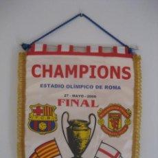 Coleccionismo deportivo: BANDERIN FINAL CHAMPIONS 27 MAYO 2009. MANCHESTER UNITED - F.C. BARCELONA. ESTADIO OLIMPICO DE ROMA. Lote 228977480