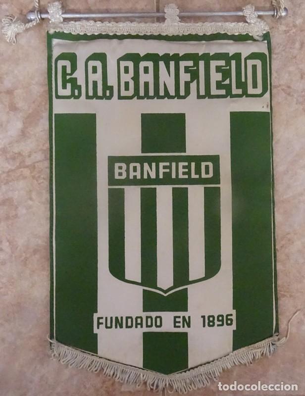 BANDERIN C.A. BANFIELD FUNDADO EN 1896 REPÚBLICA ARGENTINA (Coleccionismo Deportivo - Banderas y Banderines de Fútbol)
