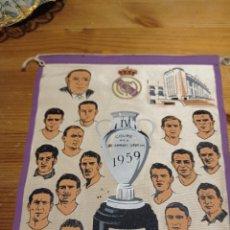 Coleccionismo deportivo: ANTIGUO BANDERÍN REAL MADRID COPA DE CAMPEONES 1959. Lote 234050525