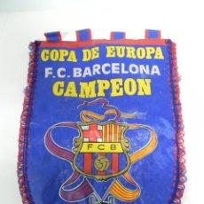 Coleccionismo deportivo: BARÇA, BANDERIN FC BARCELONA, CAMPEÓN COPA DE EUROPA EN WEMBLEY, LONDRES 20-5-1992, MIDE 40 CMS.. Lote 234177860