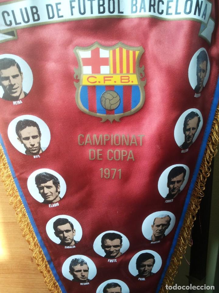 """BANDERÍN """"CLUB DE FUTBOL BARCELONA 1971"""" ( CAMPIONAT DE COPA 1971) GRANDE """"50 CM"""". (Coleccionismo Deportivo - Banderas y Banderines de Fútbol)"""