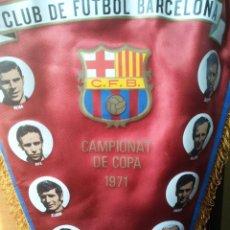 """Coleccionismo deportivo: BANDERÍN """"CLUB DE FUTBOL BARCELONA 1971"""" ( CAMPIONAT DE COPA 1971) GRANDE """"50 CM"""".. Lote 235518495"""