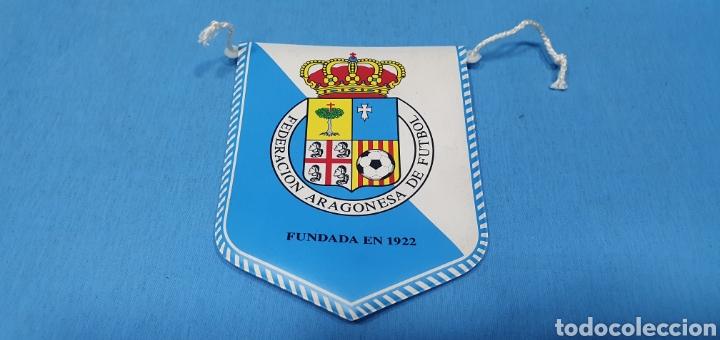 BANDERÍN - FEDERACIÓN ARAGONESA DE FUTBOL (Coleccionismo Deportivo - Banderas y Banderines de Fútbol)