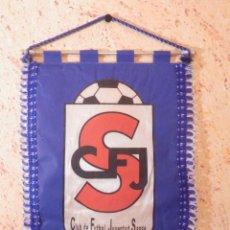 Coleccionismo deportivo: BANDERIN - FLAG - C.F.J.S - CLUB DE FUTBOL JUVENTUD SANSE - SAN SEBASTIAN DE LOS REYES. - 33 X 25 CM. Lote 236043325