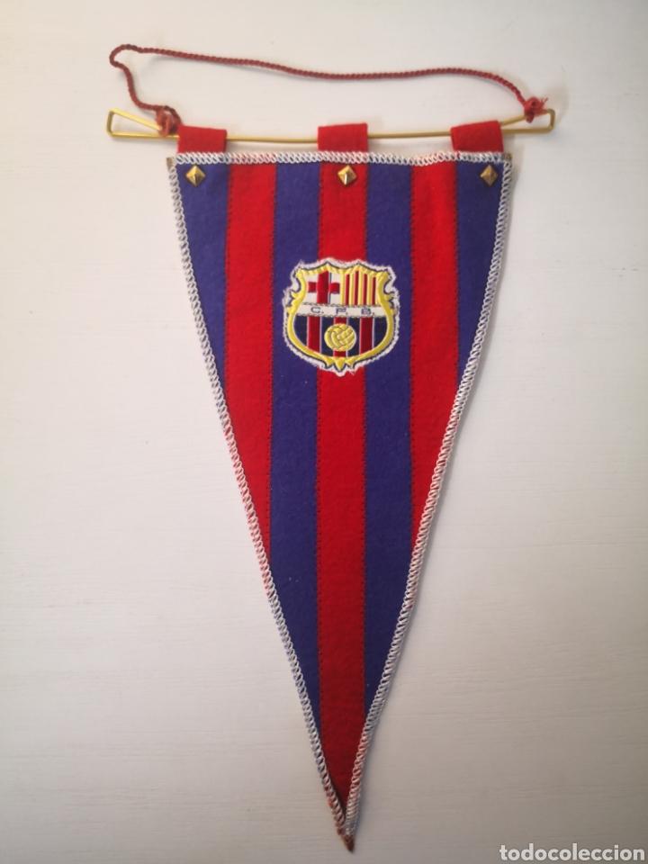 ANTIGUO BANDERIN FC BARCELONA BARÇA TAMAÑO 30CM LARGO (Coleccionismo Deportivo - Banderas y Banderines de Fútbol)
