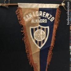 Coleccionismo deportivo: ANTIGUO BANDERIN EQUIPO FUTBOL SAN LORENZO DE ALMAGRO ARGENTINA. Lote 237068325