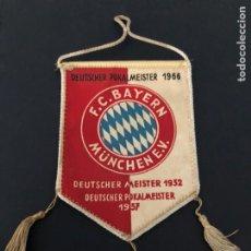 Coleccionismo deportivo: ANTIGUO BANDERIN FINAL COPA ALEMANIA 1966 FC BAYERN MÜNCHEN DEUTSCHER POKALMEISTER 1966. Lote 237070125
