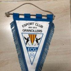 Coleccionismo deportivo: ANTIGUO BANDERIN FUTBOL ESPORT CLUB GRANOLLERS ANY 1913 ECG. Lote 237133680