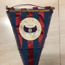 Coleccionismo deportivo: ANTIGUO BANDERIN FUTBOL PENYA BARCELONISTA DE MARTORELL. Lote 237134930