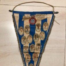 Coleccionismo deportivo: ANTIGUO BANDERIN FUTBOL REAL CLUB DEPORTIVO ESPAÑOL. Lote 237135685