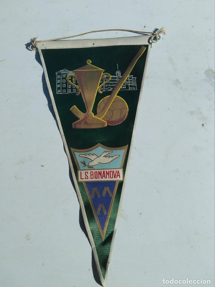 BANDERIN ANTIGUO EQUIPO FÚTBOL LA SALLE BONANOVA (CATALUÑA) (Coleccionismo Deportivo - Banderas y Banderines de Fútbol)